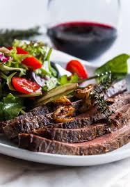 flank steak with wine