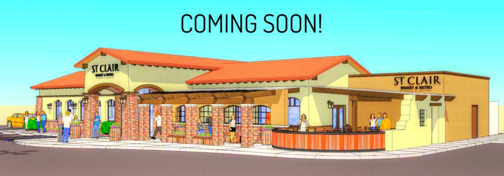 St. Clair Winery & Bistro opening soon in Alamogordo local wine craft beer and full lunch and dinner menu