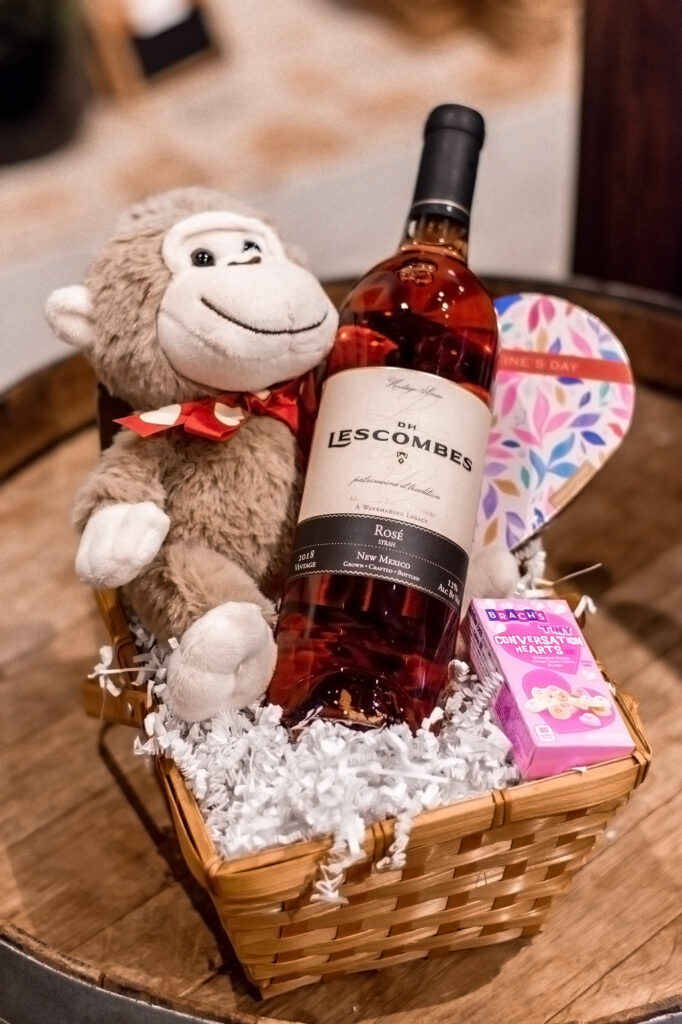romantic valentine's day wine gift basket
