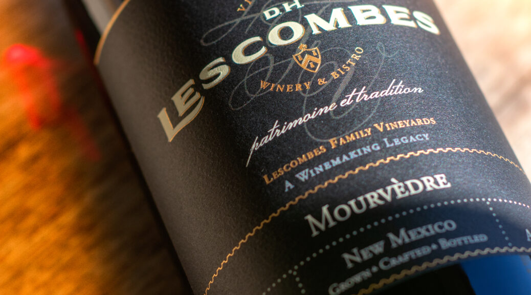 D.H. Lescombes Limited Release Mourvedre hand-crafted by Lescombes Family Vineyards in New Mexico