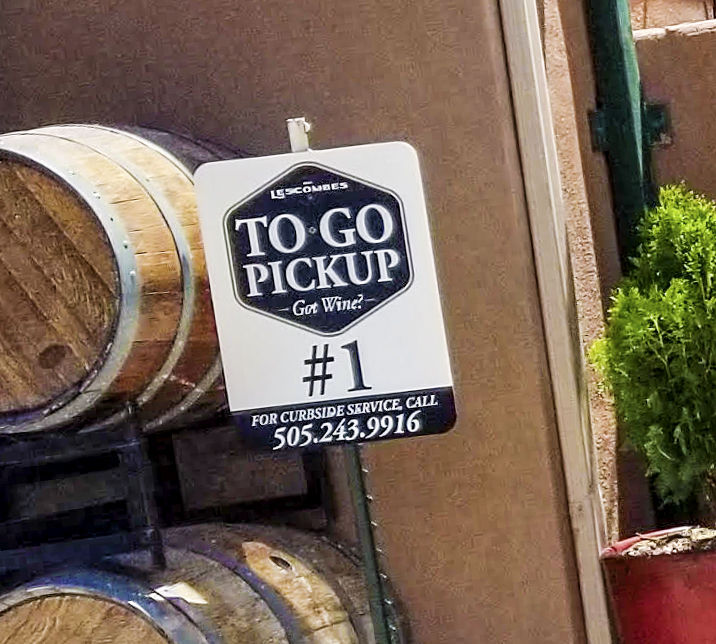When you pickup your order at D.H. Lescombes, get car side delivery! Just park in one of our to go parking space and we'll bring your order to you.