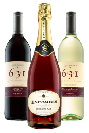 D.H. Lescombes Variety 3-pack with a bottle of each red, white, and pink bubbly!