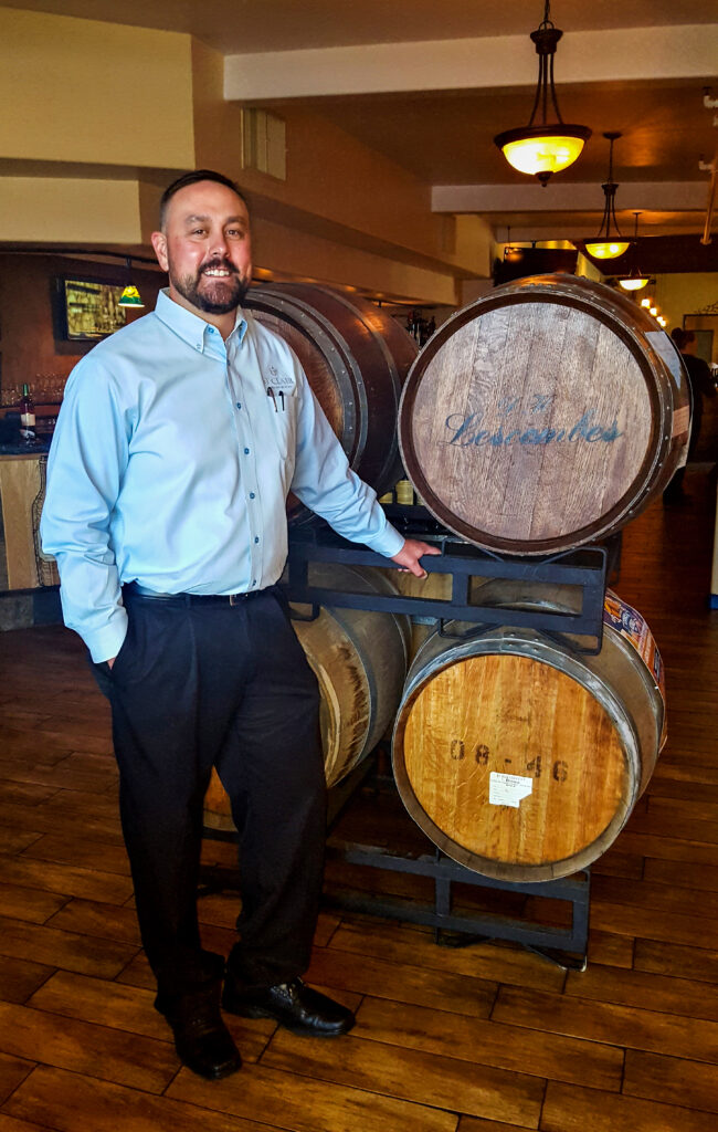 Mike Whiteside, General Manager at the best restaurant in Alamogordo, New Mexico; D.H. Lescombes Winery & Bistro.